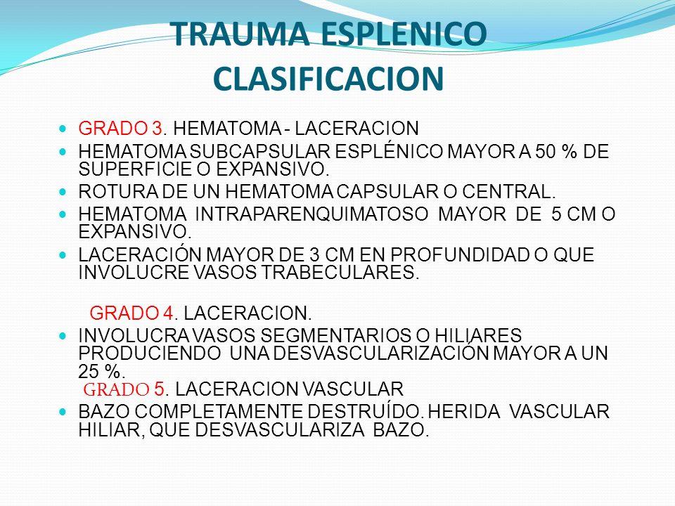 TRAUMA ESPLENICO CLASIFICACION