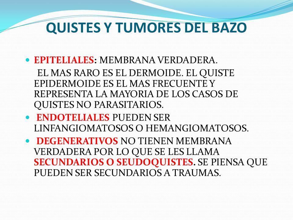 QUISTES Y TUMORES DEL BAZO