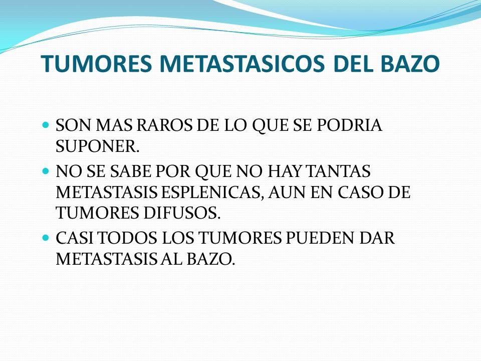TUMORES METASTASICOS DEL BAZO