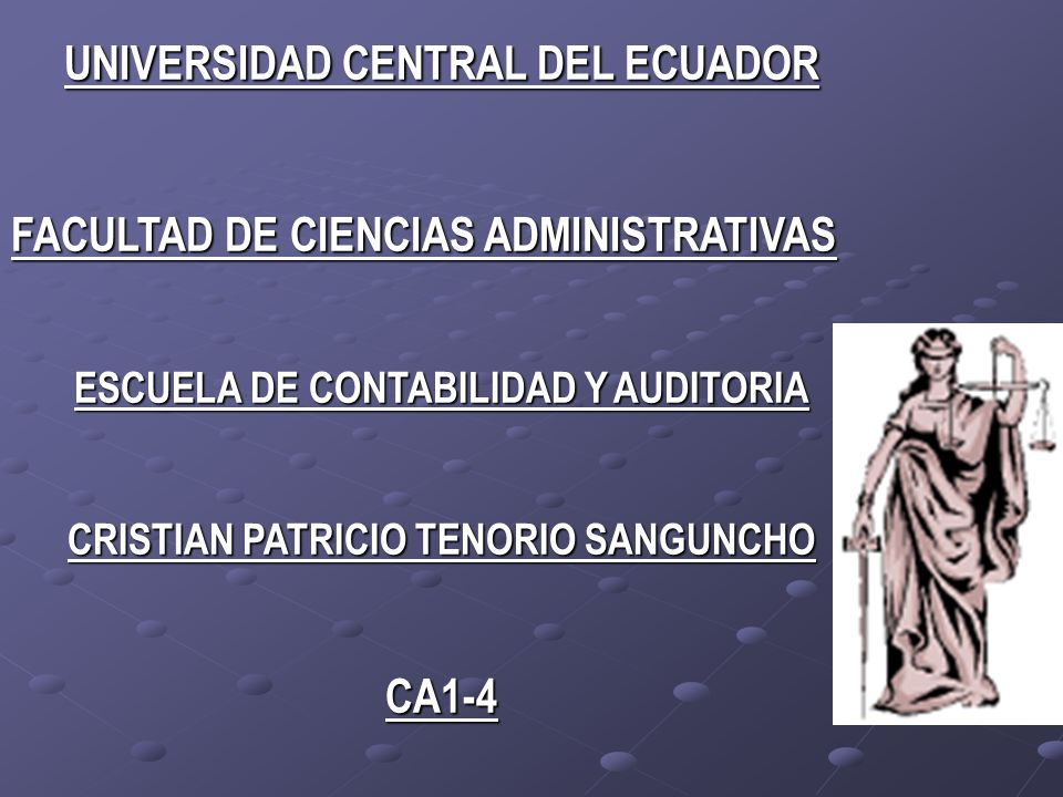 UNIVERSIDAD CENTRAL DEL ECUADOR CA1-4