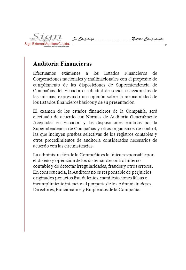 Auditoria Financieras