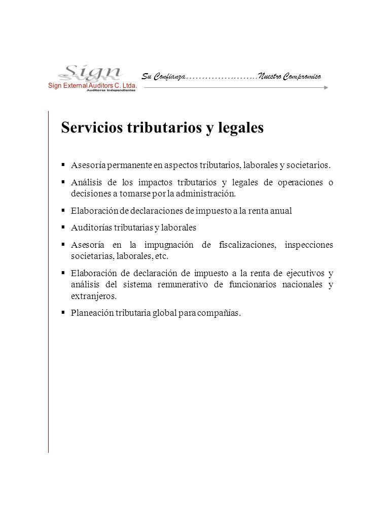 Servicios tributarios y legales