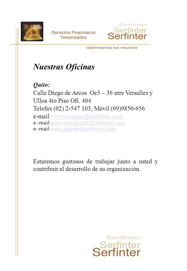 Nuestras Oficinas Quito: