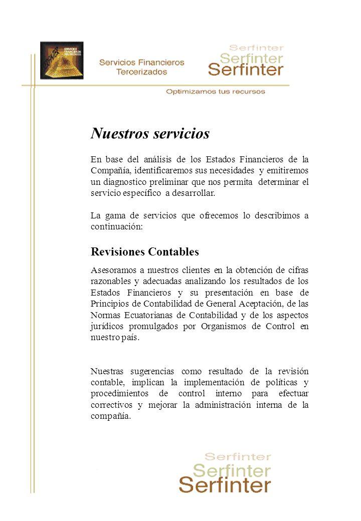 Nuestros servicios Revisiones Contables