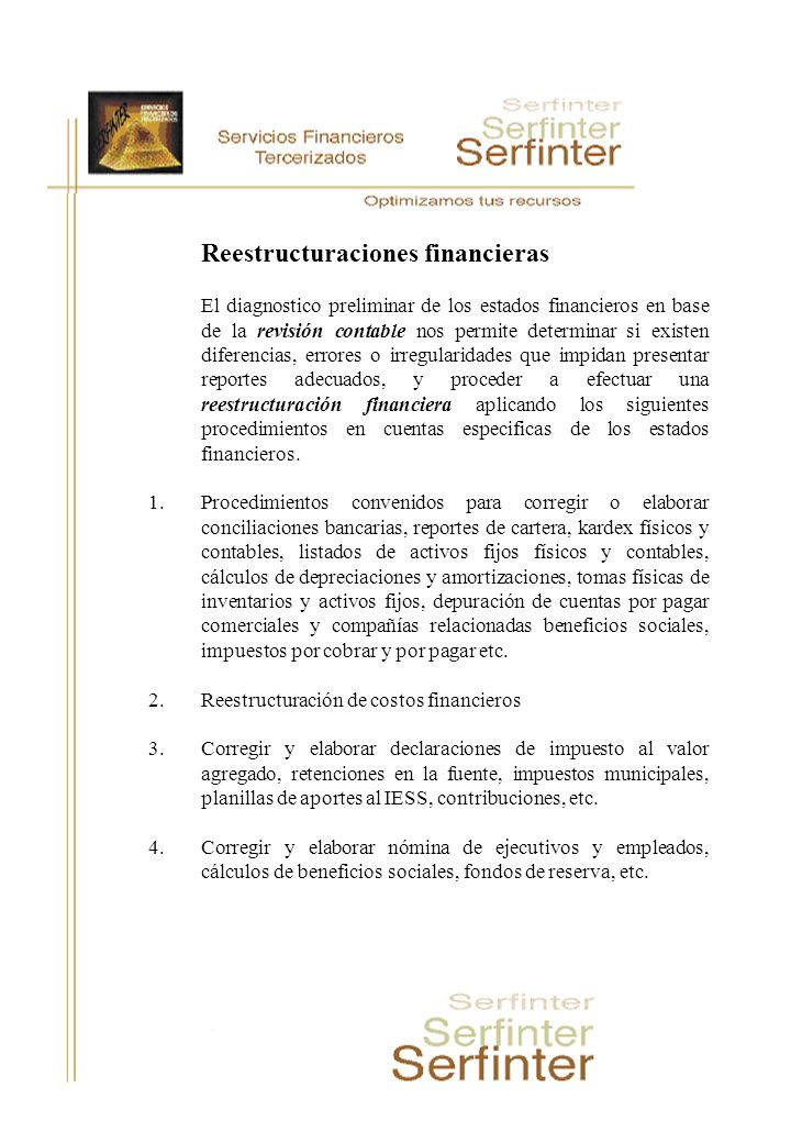 Reestructuraciones financieras
