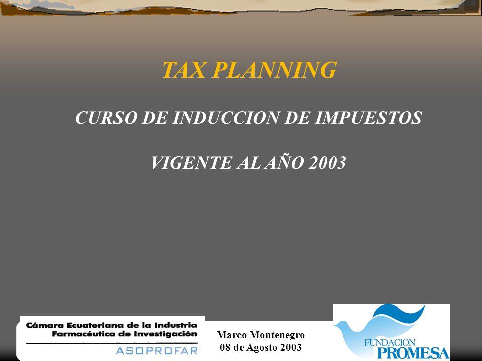 CURSO DE INDUCCION DE IMPUESTOS