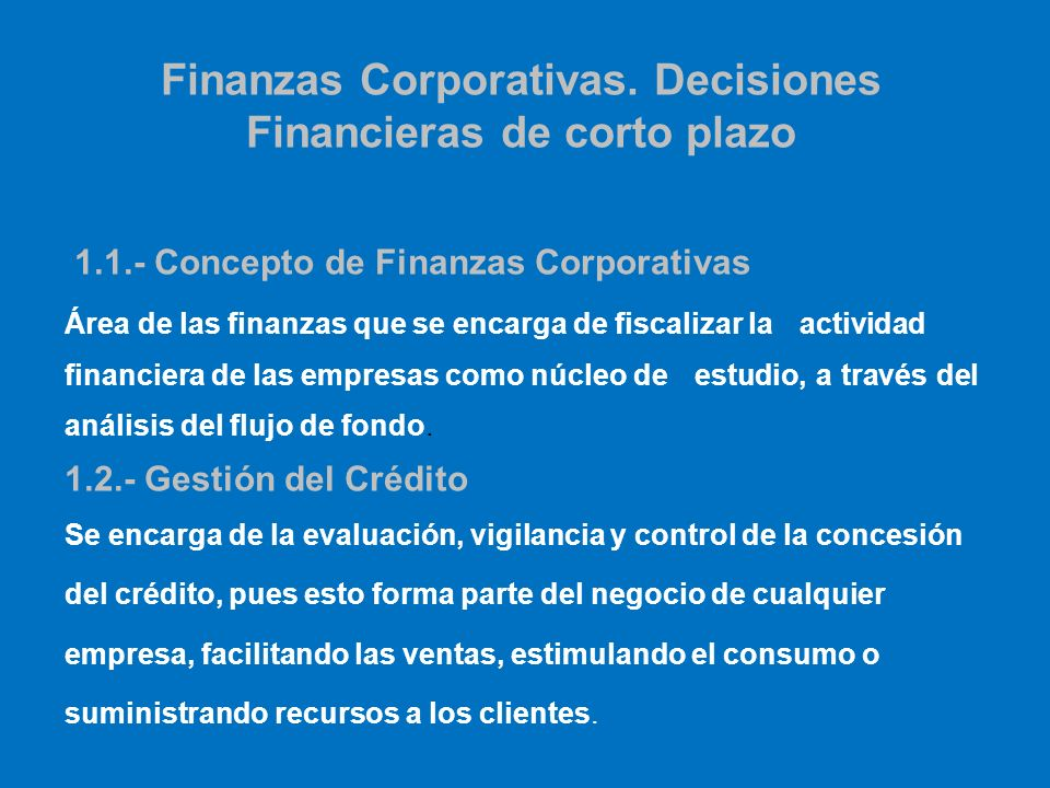 Finanzas Corporativas Corporate Finance