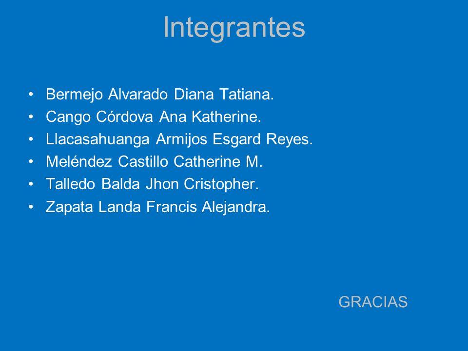 Integrantes Bermejo Alvarado Diana Tatiana.