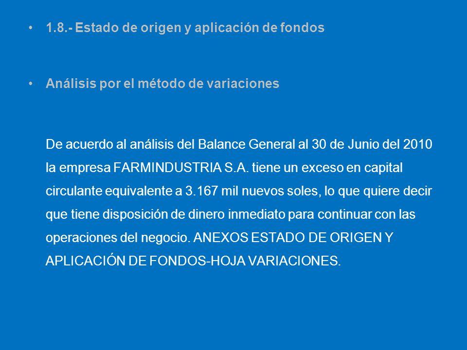 1.8.- Estado de origen y aplicación de fondos