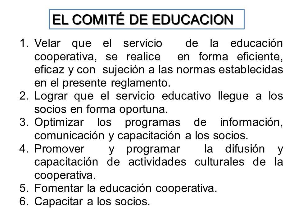 EL COMITÉ DE EDUCACION