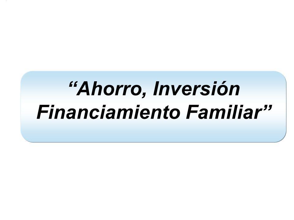 Ahorro, Inversión Financiamiento Familiar