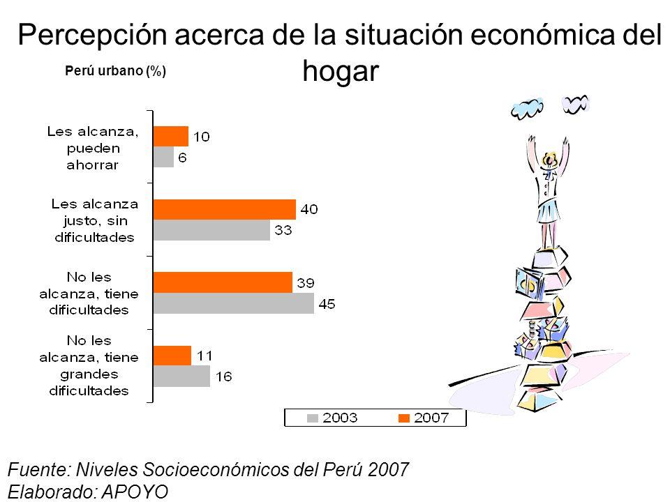 Percepción acerca de la situación económica del hogar