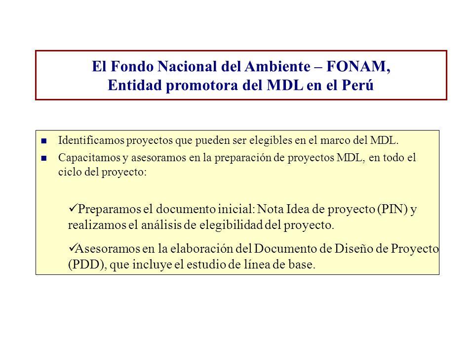 El Fondo Nacional del Ambiente – FONAM,