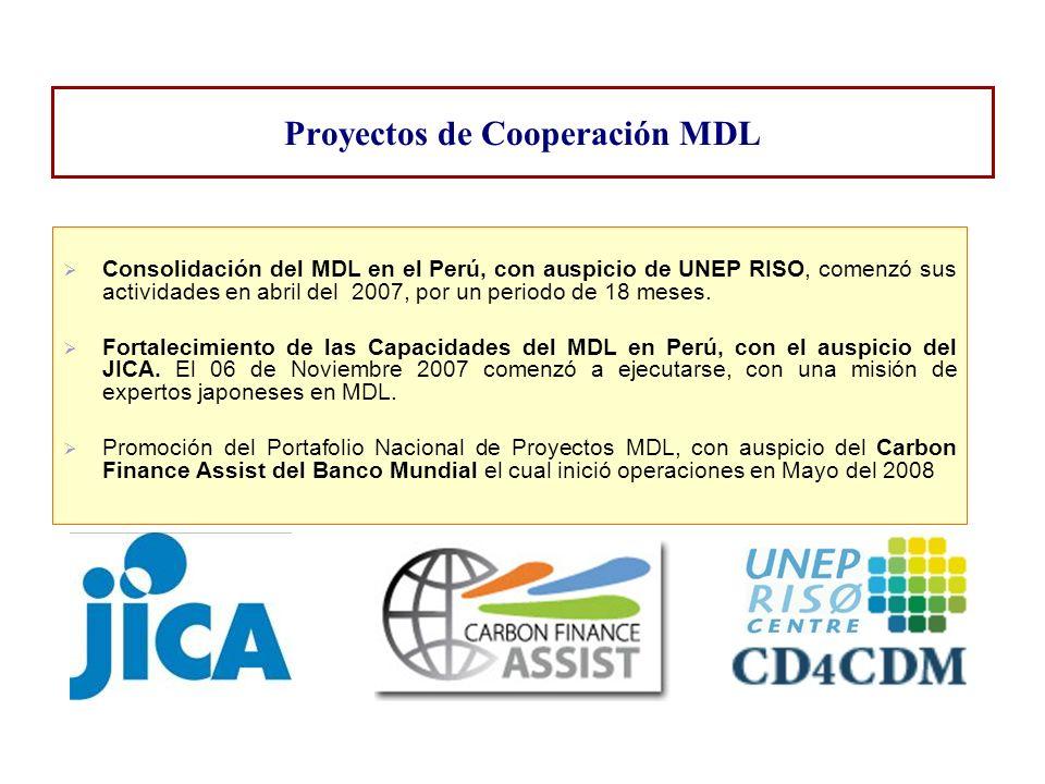 Proyectos de Cooperación MDL