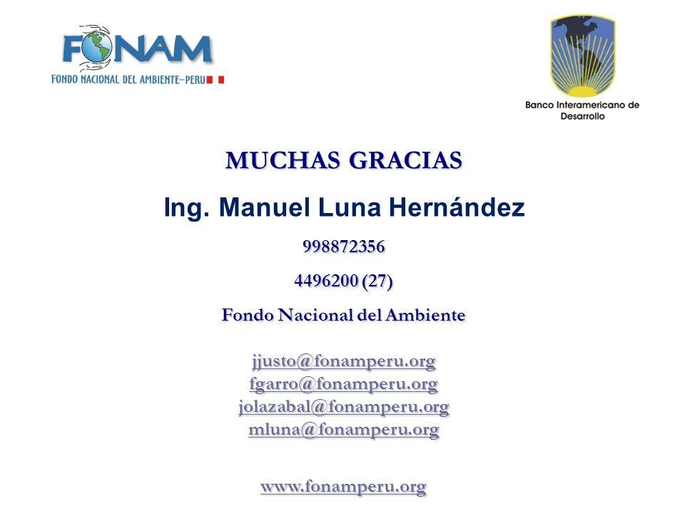 Ing. Manuel Luna Hernández Fondo Nacional del Ambiente
