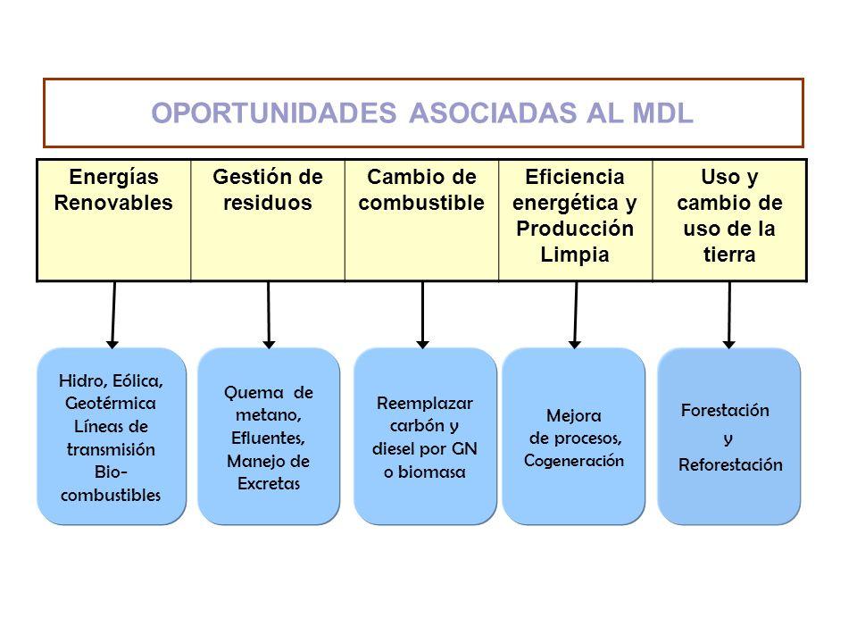 OPORTUNIDADES ASOCIADAS AL MDL