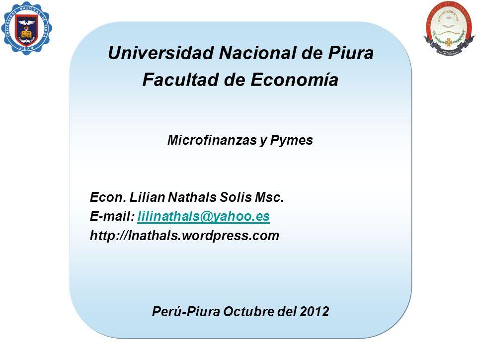 Universidad Nacional de Piura Perú-Piura Octubre del 2012