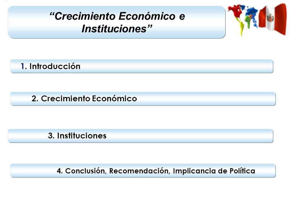 Crecimiento Económico e Instituciones