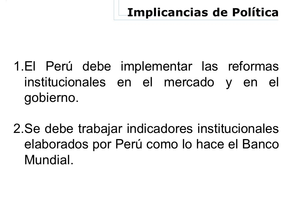 Implicancias de Política