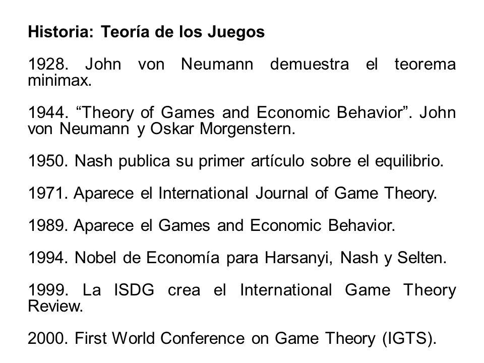 Historia: Teoría de los Juegos