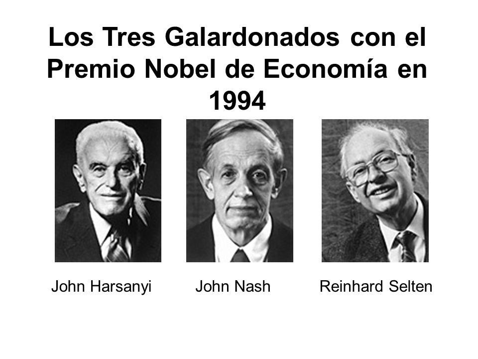 Los Tres Galardonados con el Premio Nobel de Economía en 1994