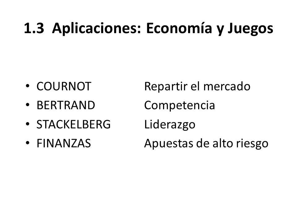 1.3 Aplicaciones: Economía y Juegos