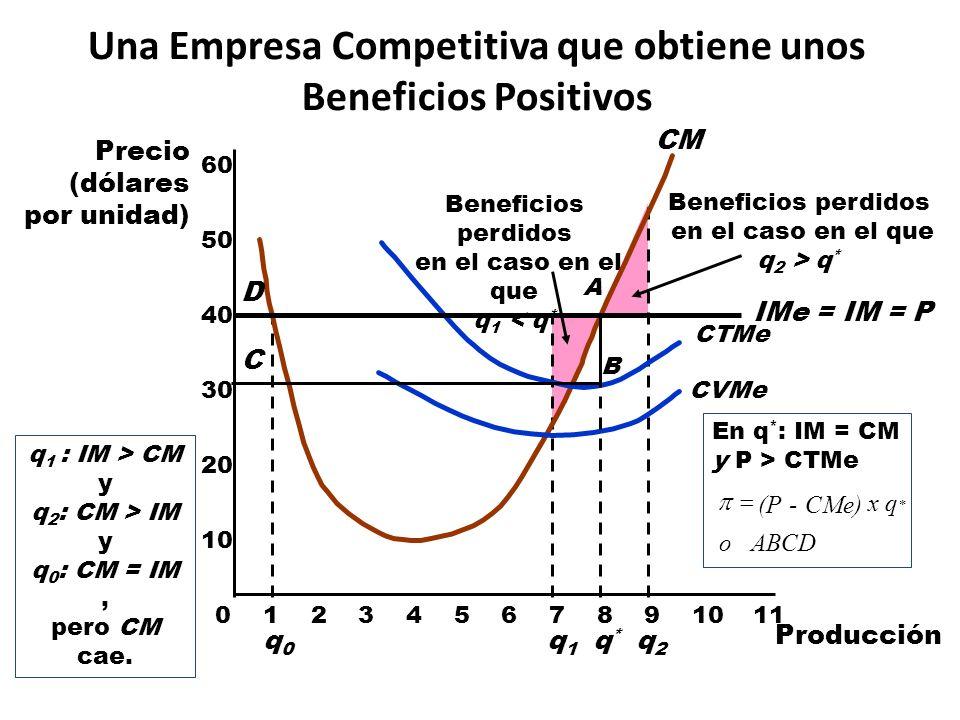 Una Empresa Competitiva que obtiene unos Beneficios Positivos