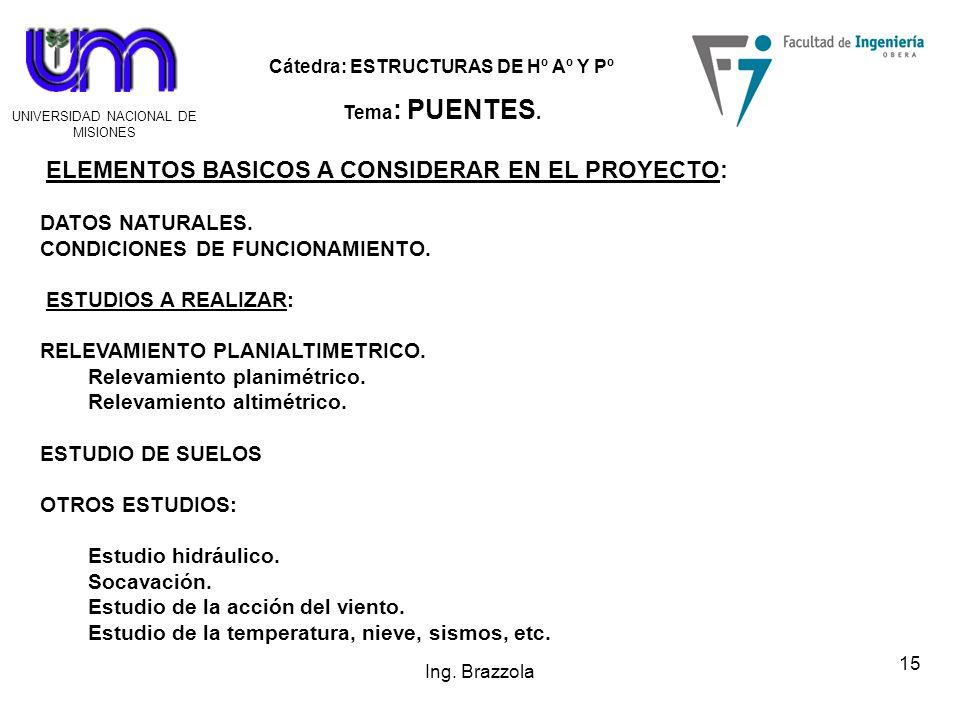 ELEMENTOS BASICOS A CONSIDERAR EN EL PROYECTO: DATOS NATURALES.