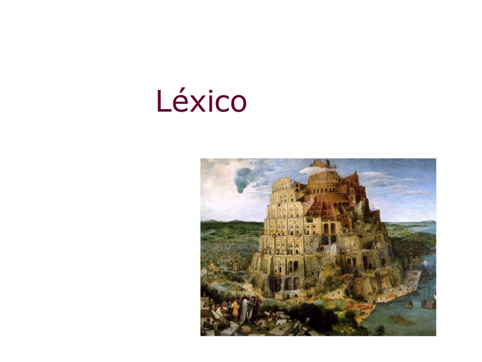 Léxico