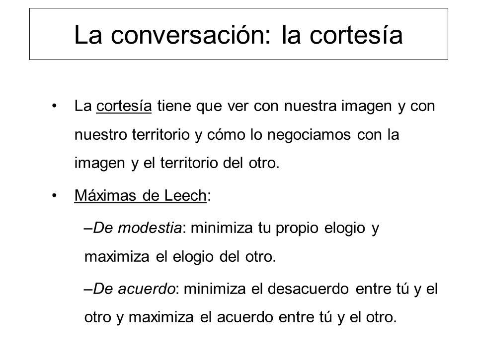La conversación: la cortesía