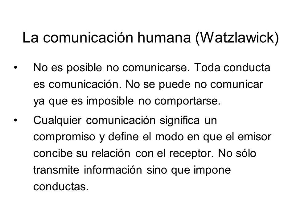 La comunicación humana (Watzlawick)