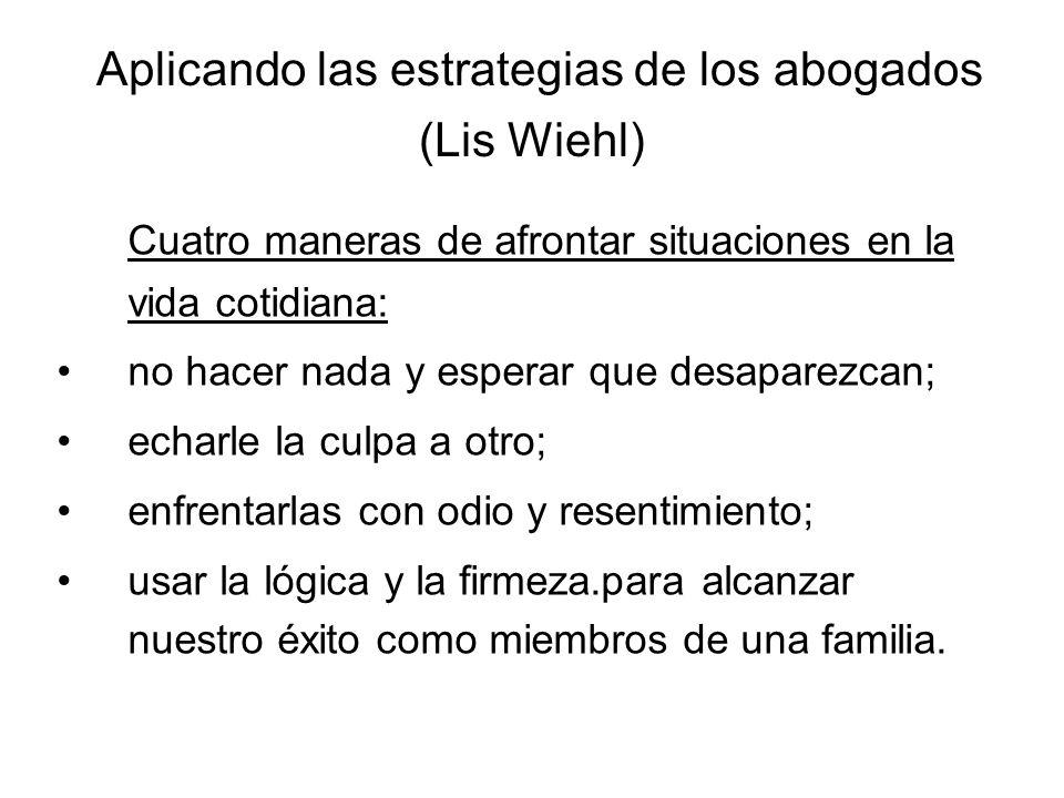 Aplicando las estrategias de los abogados (Lis Wiehl)