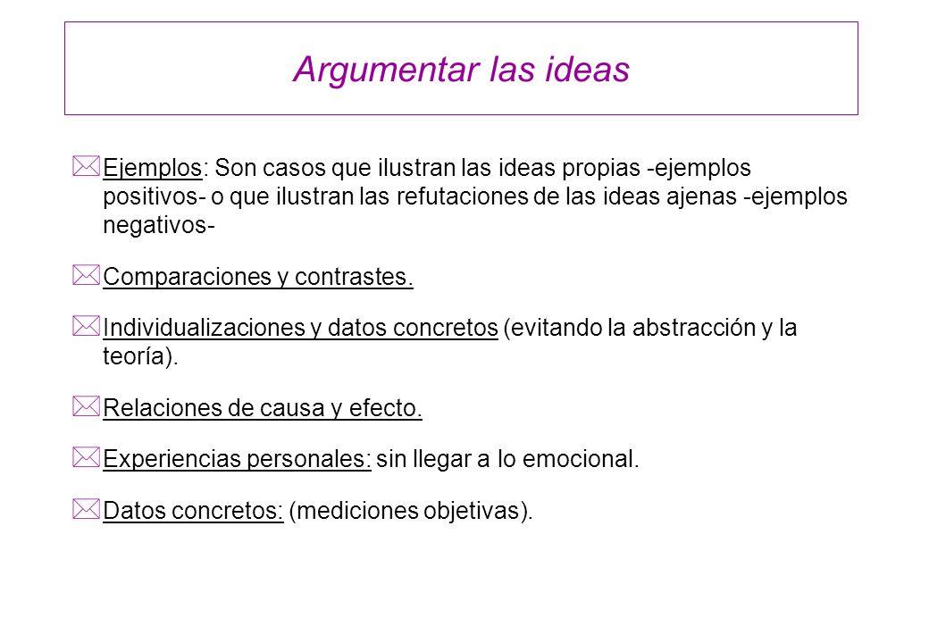 Argumentar las ideas