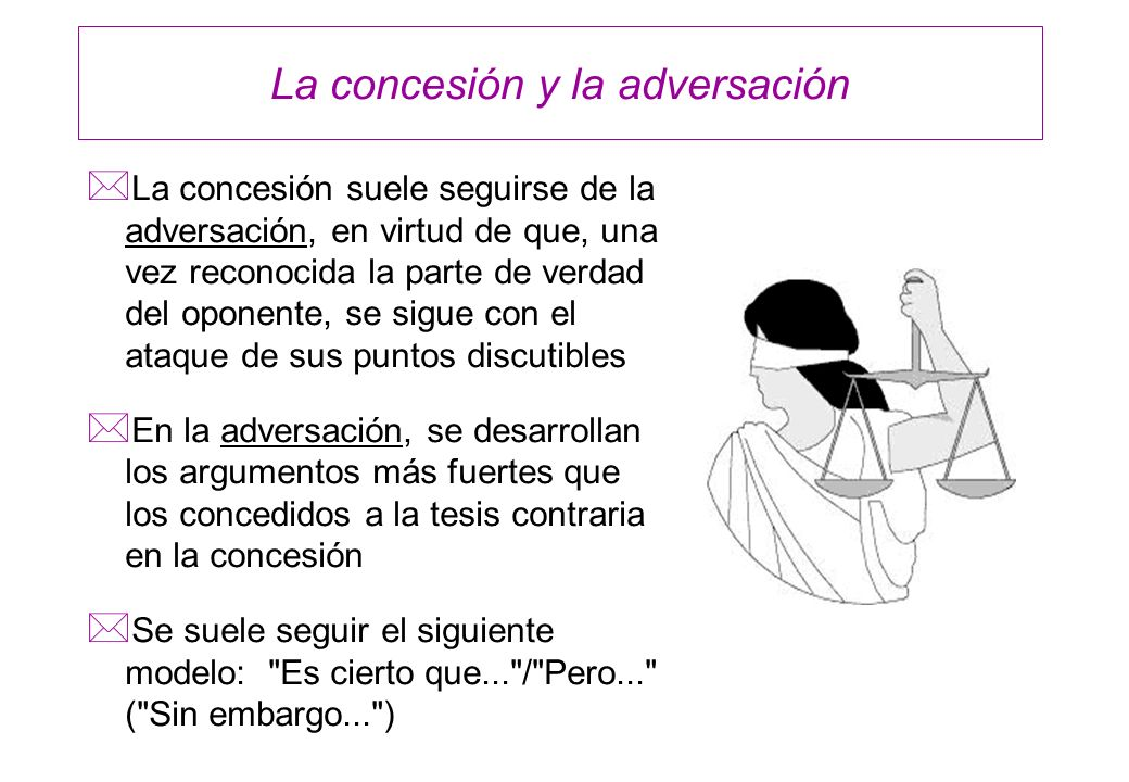 La concesión y la adversación