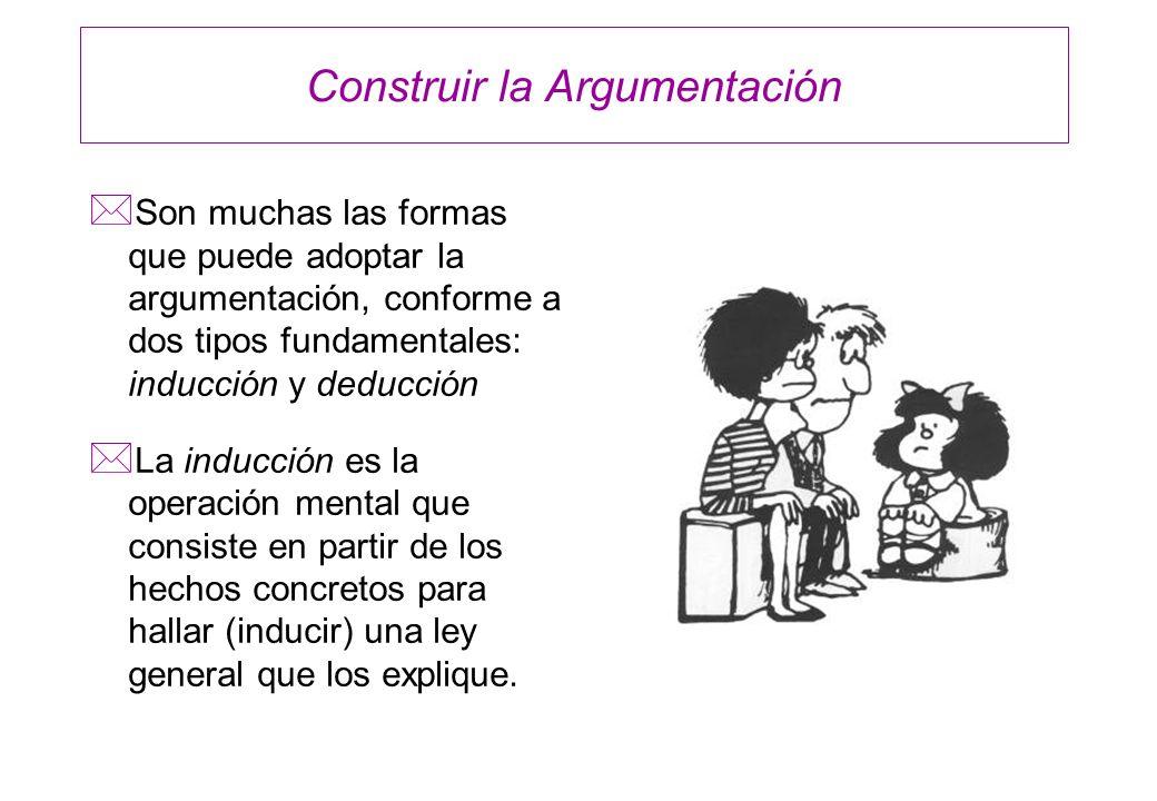 Construir la Argumentación
