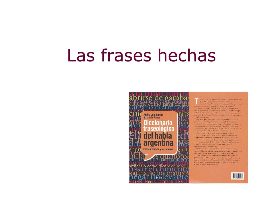 Las frases hechas