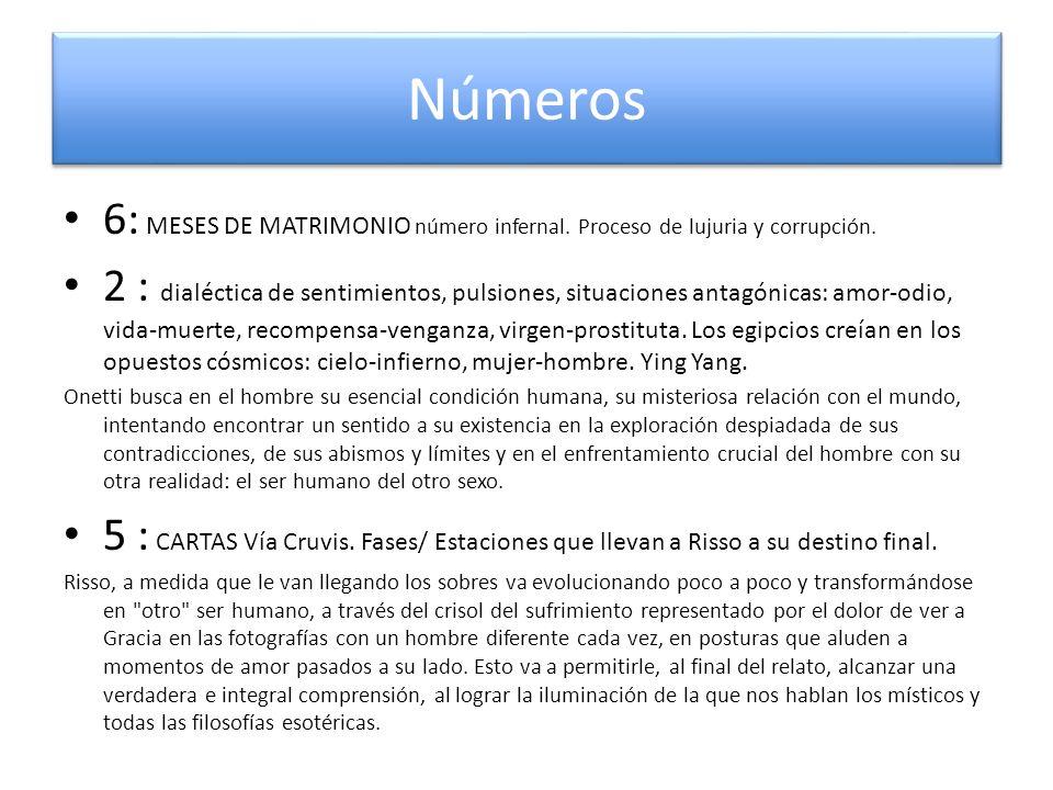 Números 6: MESES DE MATRIMONIO número infernal. Proceso de lujuria y corrupción.