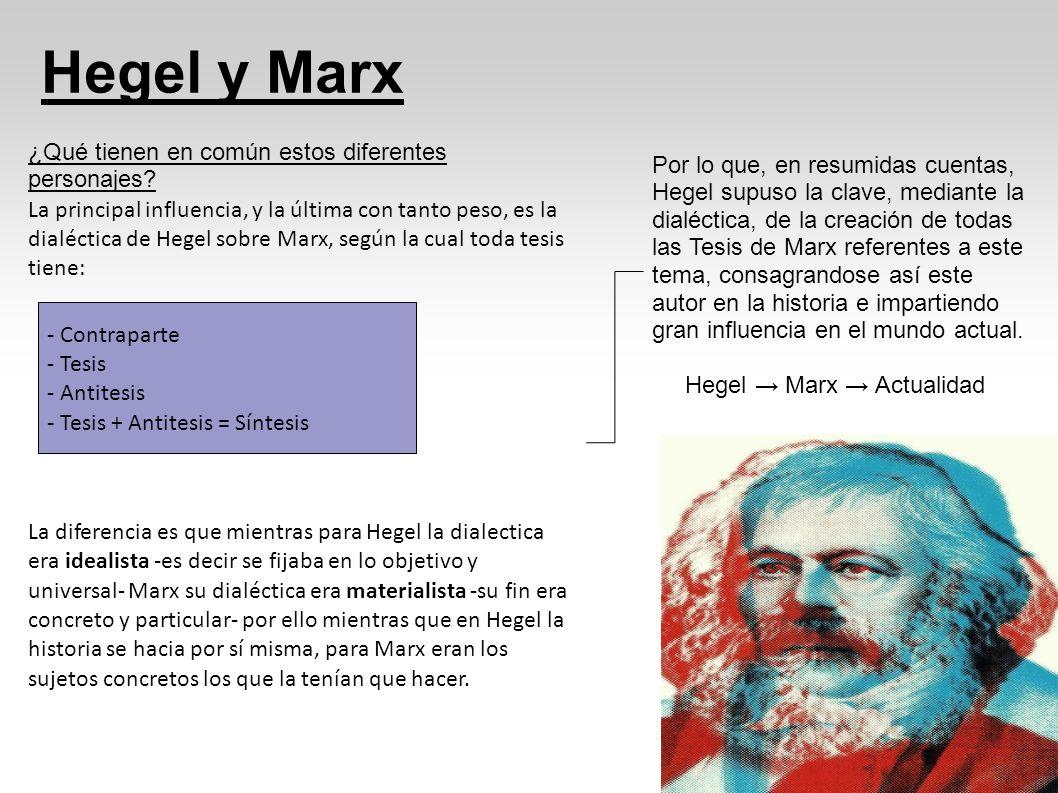 Hegel y Marx ¿Qué tienen en común estos diferentes personajes