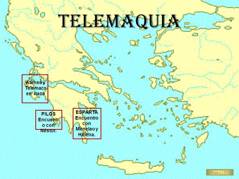 TELEMAQUIA Atenea y Telémaco en Ítaca
