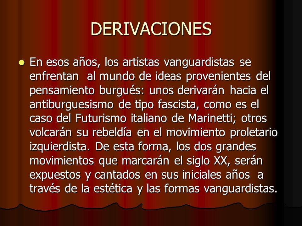 DERIVACIONES
