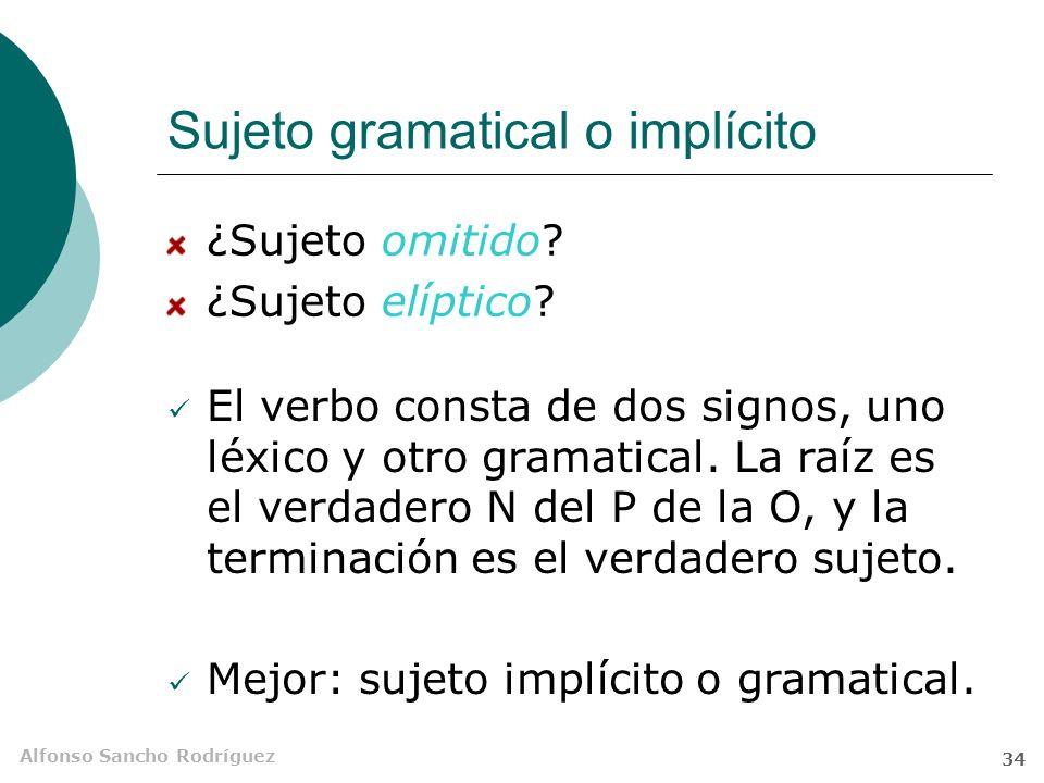 Sujeto gramatical o implícito