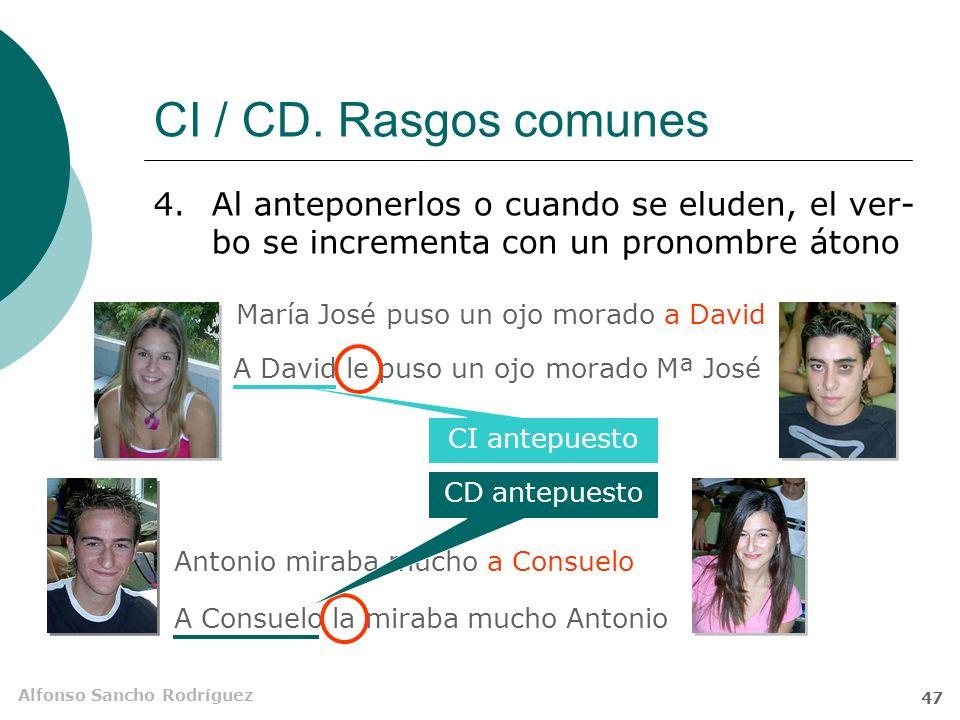 CI / CD. Rasgos comunes Al anteponerlos o cuando se eluden, el ver-bo se incrementa con un pronombre átono.