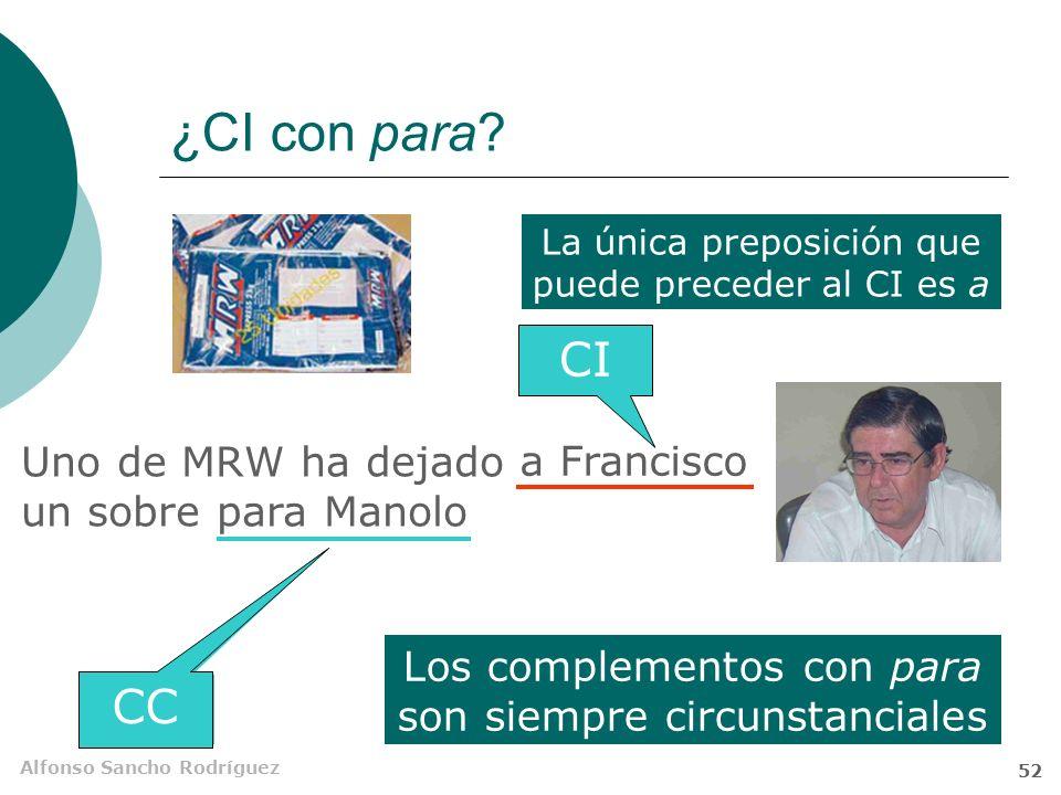 ¿CI con para CI ¿CI CC Uno de MRW ha dejado un sobre para Manolo
