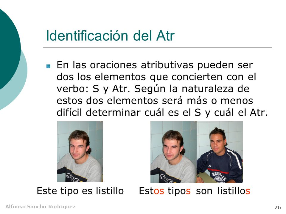 Identificación del Atr