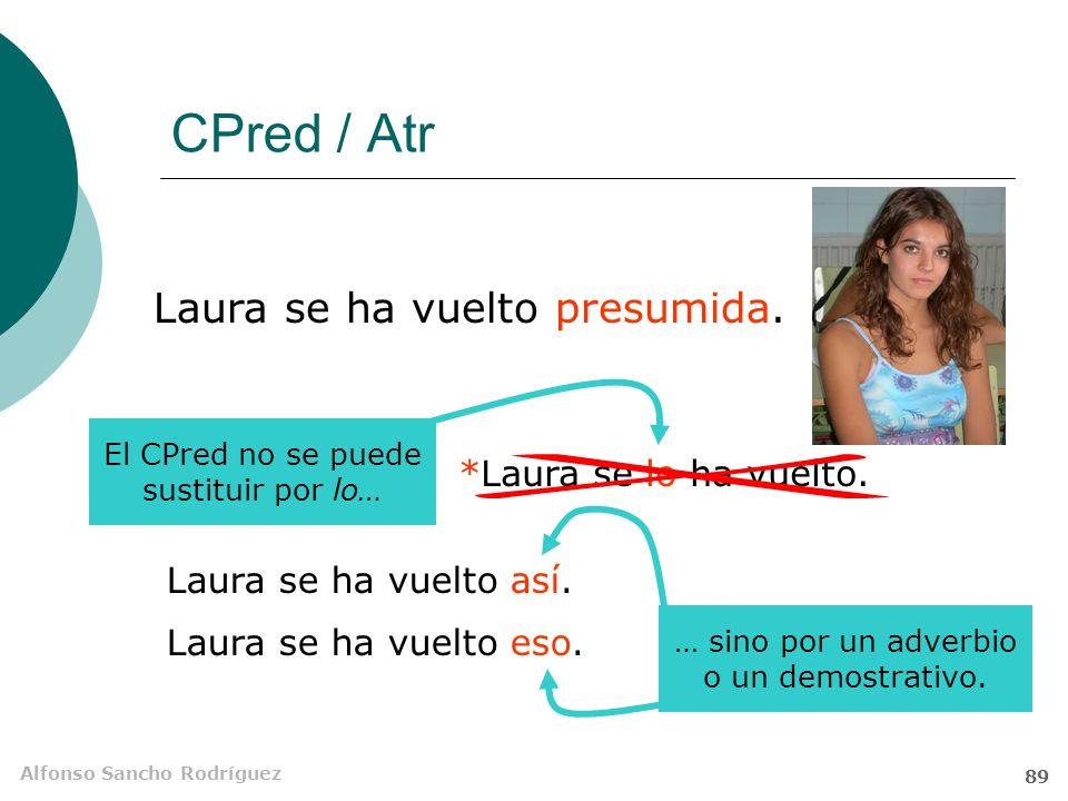CPred / Atr Laura se ha vuelto presumida. *Laura se lo ha vuelto.