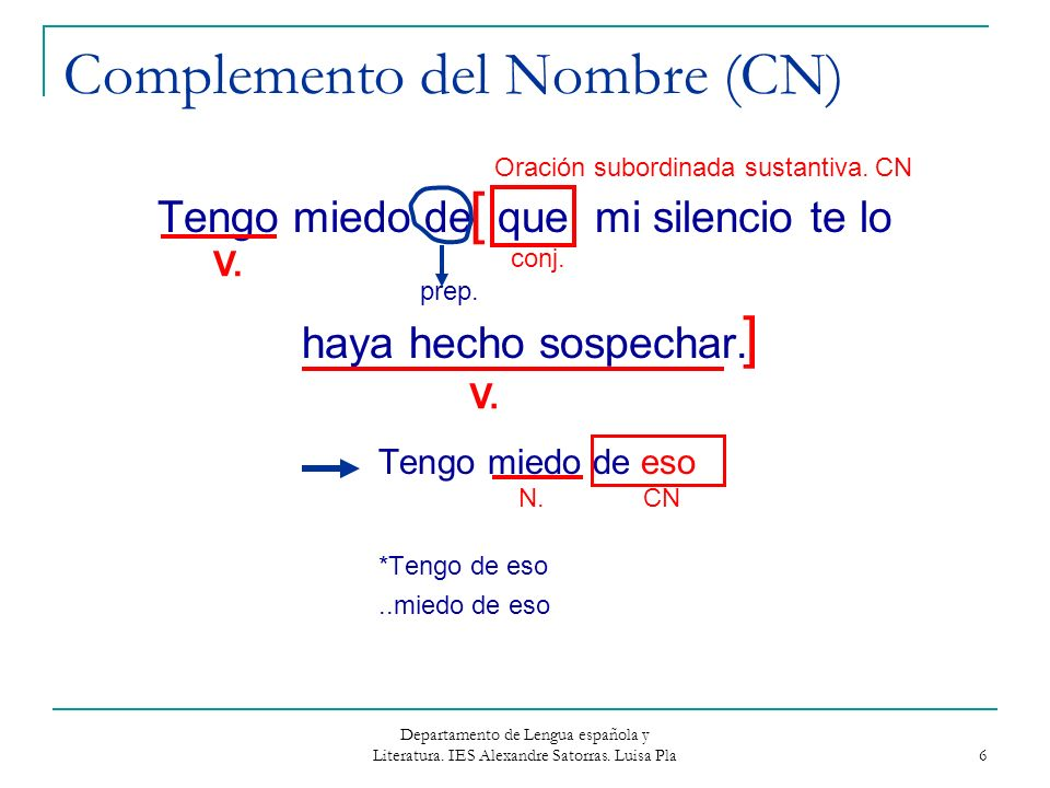 Complemento del Nombre (CN)