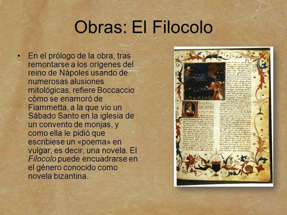 Obras: El Filocolo