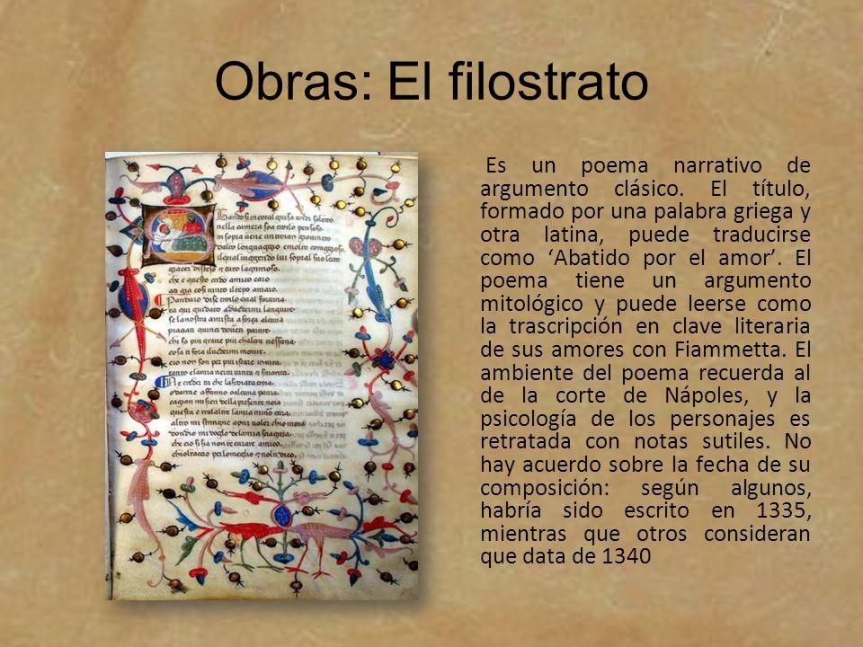 Obras: El filostrato