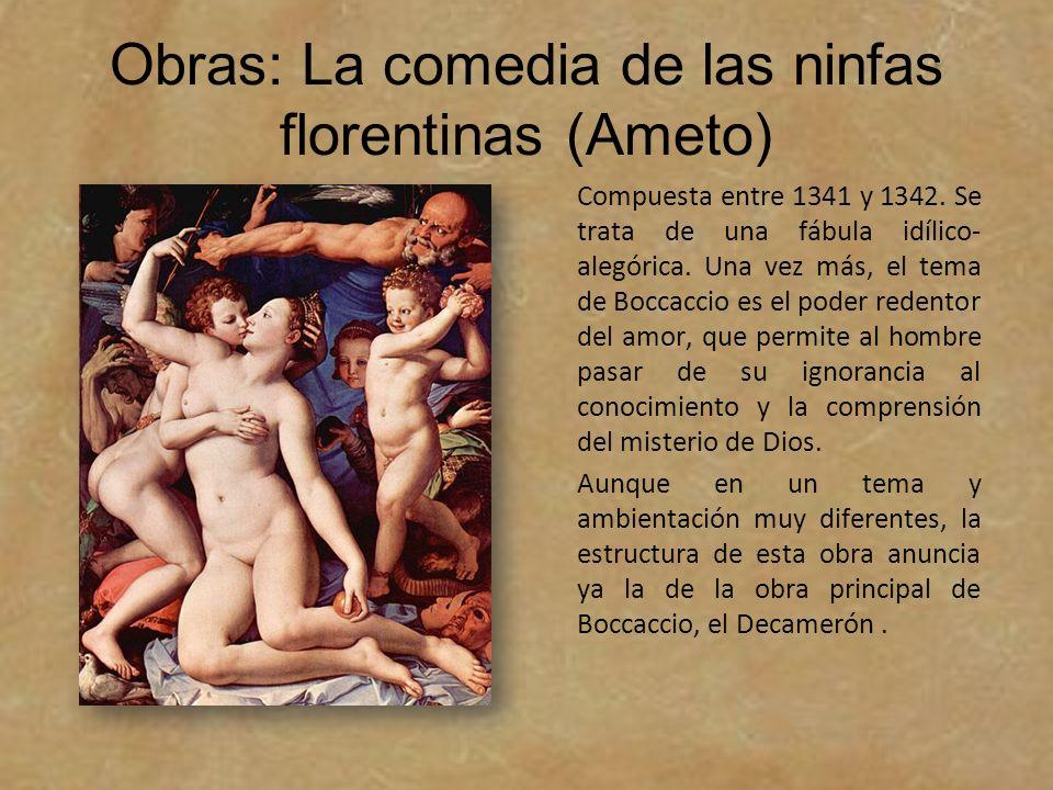 Obras: La comedia de las ninfas florentinas (Ameto)