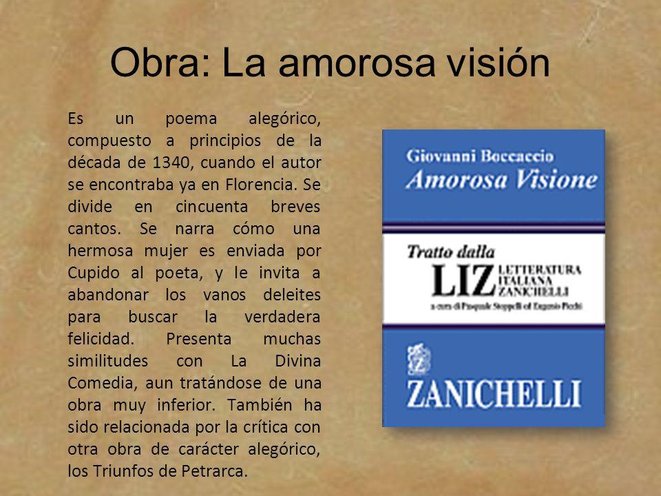 Obra: La amorosa visión